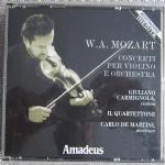 MOZART CONCERTI PER VIOLINO E ORCHESTRA Cofanetto 2 CD Carmignola De Martini Il Quartettone