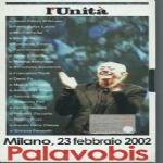Milano 23 febbraio 2002 Palavobis