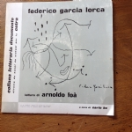 FEDERICO GARCIA LORCA LETTURE DI ARNOLDO FOA' CL 0503 33 GIRI